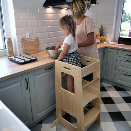 KiddyMoon Küchenhelfer für Kinder Montessori-Methode ST ...