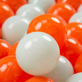 KiddyMoon Kinder Bälle für Bällebad Baby Spielbälle Plastikbälle 7cm, Orange/ Mint